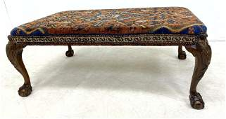 Oversized Oriental Rug Top Ottoman Bench Coffee Table