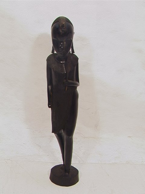 508: Carved African Sculpture Standing Figure. Wood. Un