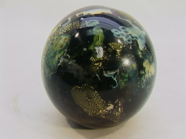 651: Large 6 in. JOSH SIMPSON Paperweight PLANET Art
