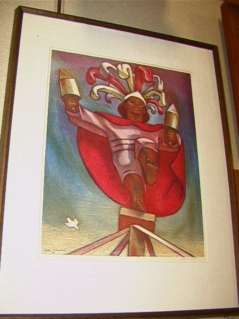 923: Jean Charlot Original Lithograph Print. El Valodo
