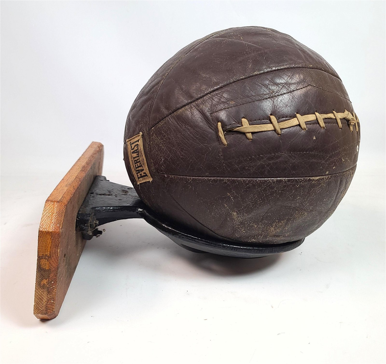 Vintage Everlast Medicine Ball with Original Iron and W