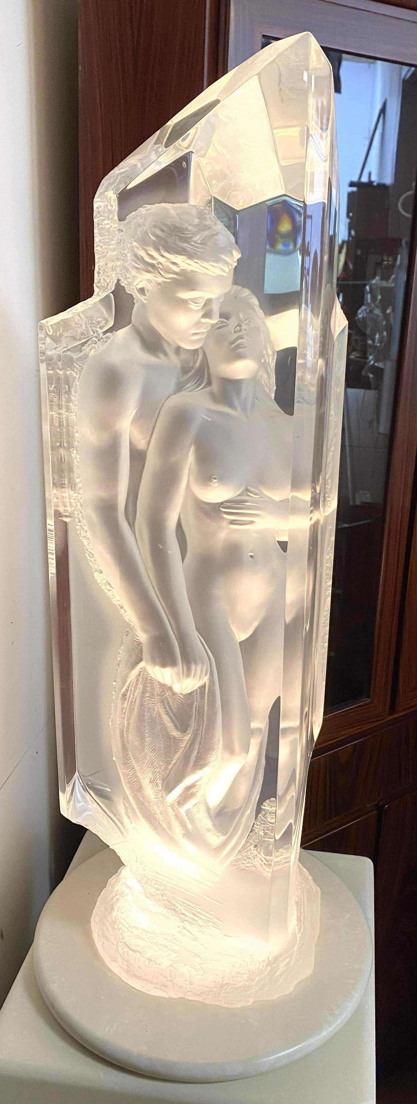 """MICHAEL WILKINSON Acrylic Sculpture """"TEMPLE"""".  Signed a"""