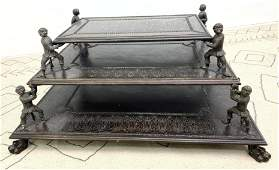 Wonderful Maitland Smith Bronze Coffee Table Three tie