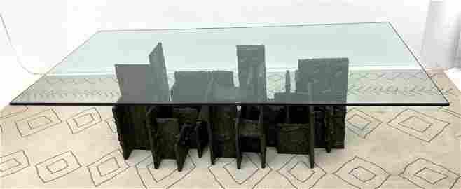Paul Evans SKYLINE Dining Table. PE 74.  Bronzed Compos