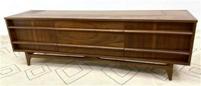 YOUNG Mfg Low Credenza China Base Curved Front Americ