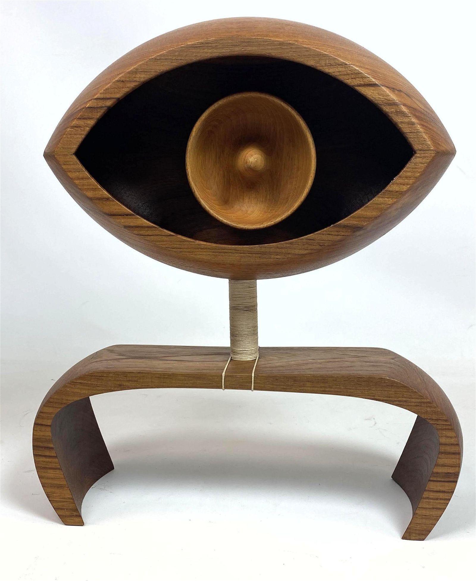 ADAM HENDERSON 2020 Modernist Wood Sculpture. The seei