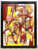 ADAM HENDERSON 2019 Colorful Abstract Oil Painting on P