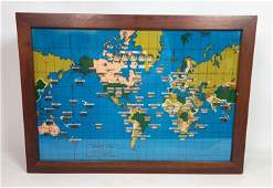 Wall Mounted World Time Clock HOWARD MILLER  world Ma