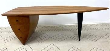 WENDELL CASTLE Style Desk. Executive Desk with ebonize