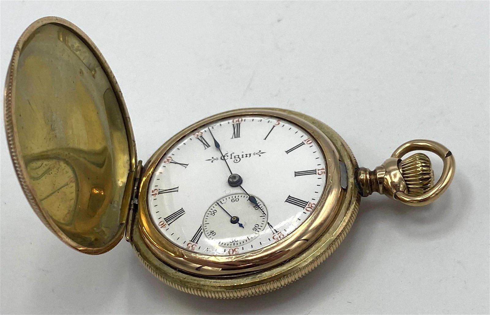 14K Gold ELGIN Pocket Watch.. ttl wgt 25.3 dwt