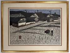 KIYOSHI SAITO Modernist Japanese Woodblock Print Count
