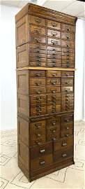 Yawman & Erbe Sectional Stacking File Cabinet. Extra Ta