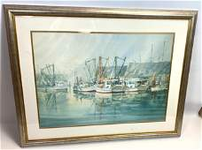 RICHARD WILLIAMS Signed and Numbered Print  Boats