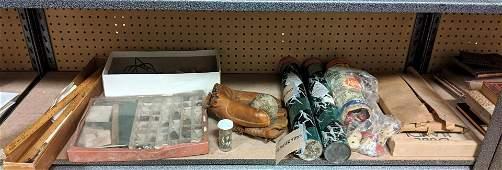 Childhood Lot. Vintage Baseball and Glove, Tinker toys