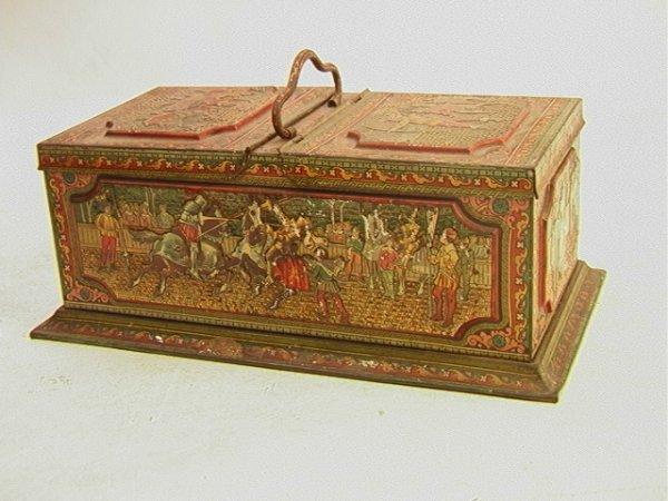 1: HUNTLEY and PALMERS Ltd Biscuit tin Antique Vintage