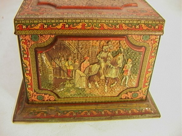 1: HUNTLEY and PALMERS Ltd Biscuit tin Antique Vintage  - 4