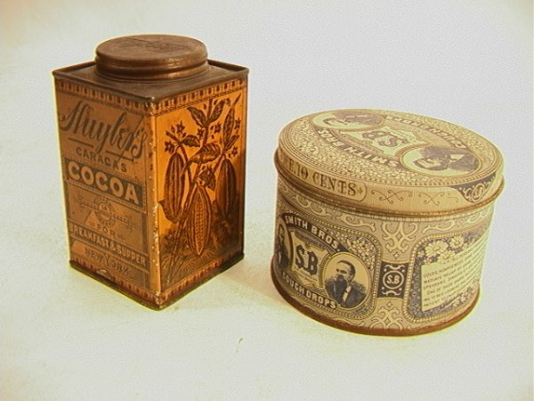 3: 2 Tins: SMITH BROS cough Drops and HUYLERS Cocoa Tin - 2