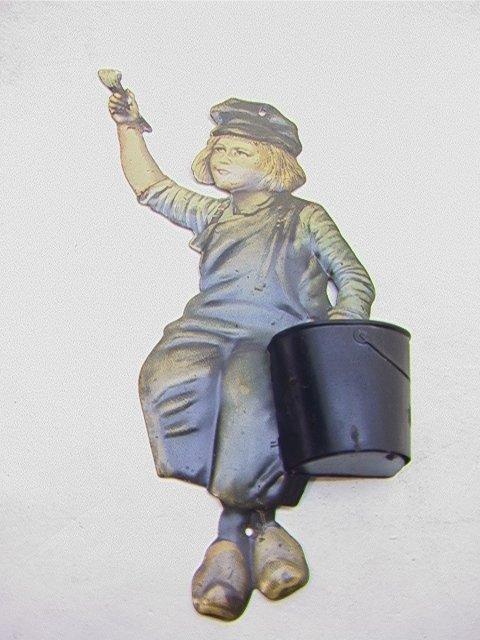 4: DUTCH BOY Pressed tin match safe Antique Vintage   D