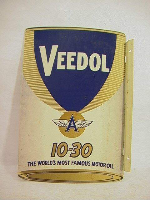 12: VEEDOL Motor oil sign enamel on Metal Antique vinta
