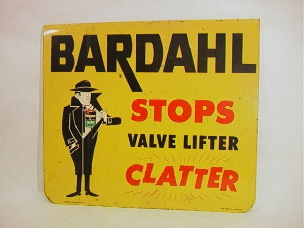 15: BARDALL Motor Oil Enamel Sign Vintage. One Sided.