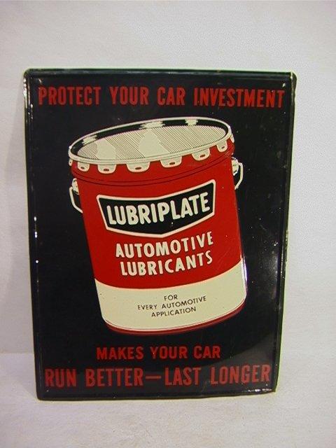 21: LUBIPLATE Motor Oil Enamel Vintage Sign.   Dimensio