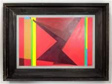 JOSEF ZENK (1904-2000) Modernist Oil Painting on Board.