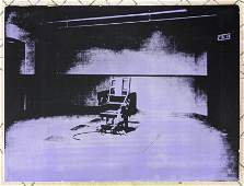 ANDY WARHOL Electric Chair Serigraph Print 85250 Pub