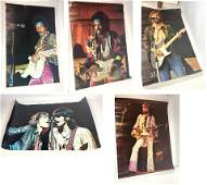 5pcs Vintage Rock and Roll Posters. JIMI HENDRIX, MICK