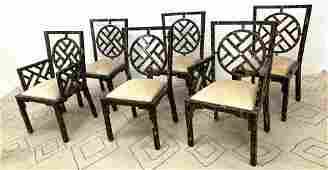 Set 6 Decorator Dining Chairs Chairs veneered entirely