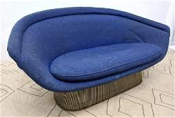 Rare WARREN PLATNER for Knoll Sofa Couch. Steel Frame.