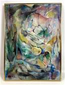 BABETTE S. FARIAN Abstract Oil Painting on Canvas.