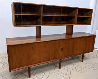 Long KNUD NIELSEN Credenza Sideboard Display Cabinet. D