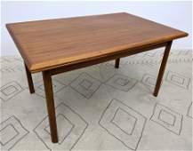 Danish Modern Teak Refractory Dining Table.