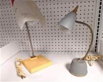 Two midcentury vintage desk lamps vintage 1960Õs 70Õs H