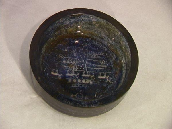 303: Warff Kosta Sweden Caveman Bowl.  Signed. 76736