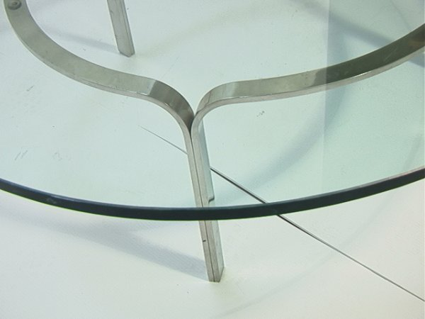 304: Modernist Stainless Steel Cocktail Coffee Table wi - 2