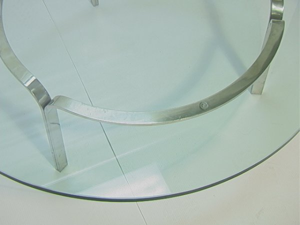 304: Modernist Stainless Steel Cocktail Coffee Table wi - 3