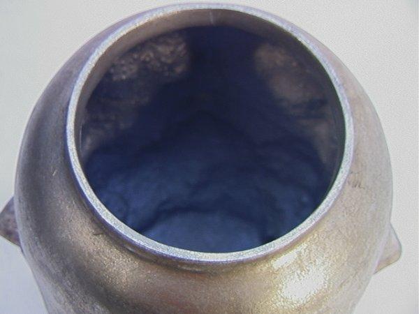 514: PIERO FORNASETTI Style Multi Face Vase Silver Leaf - 2