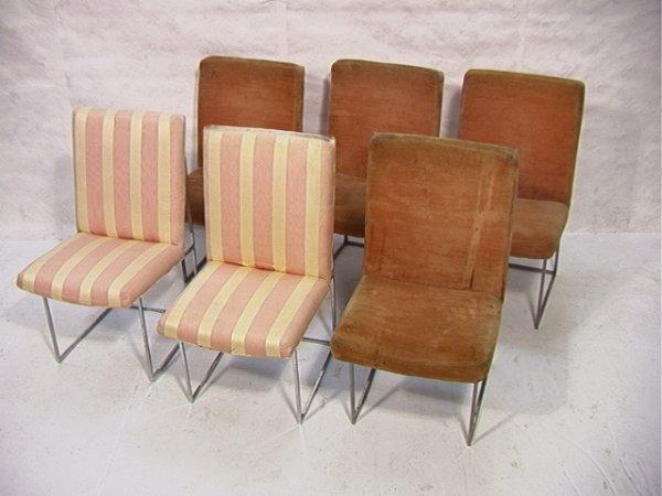 687: Set 6 Thayer Coggin Milo Baughman Chairs
