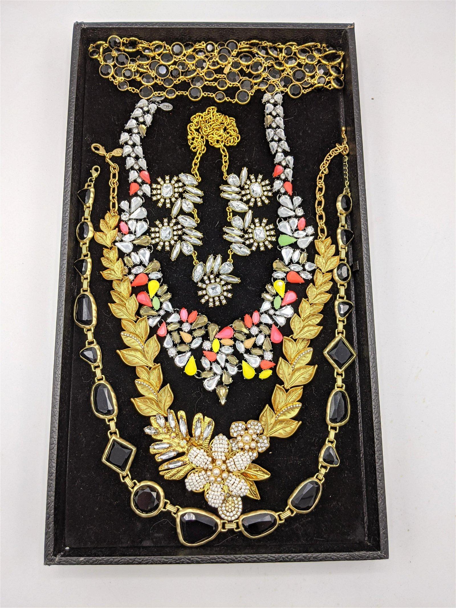 5pc Statement Costume Jewelry Necklaces. Bold designer