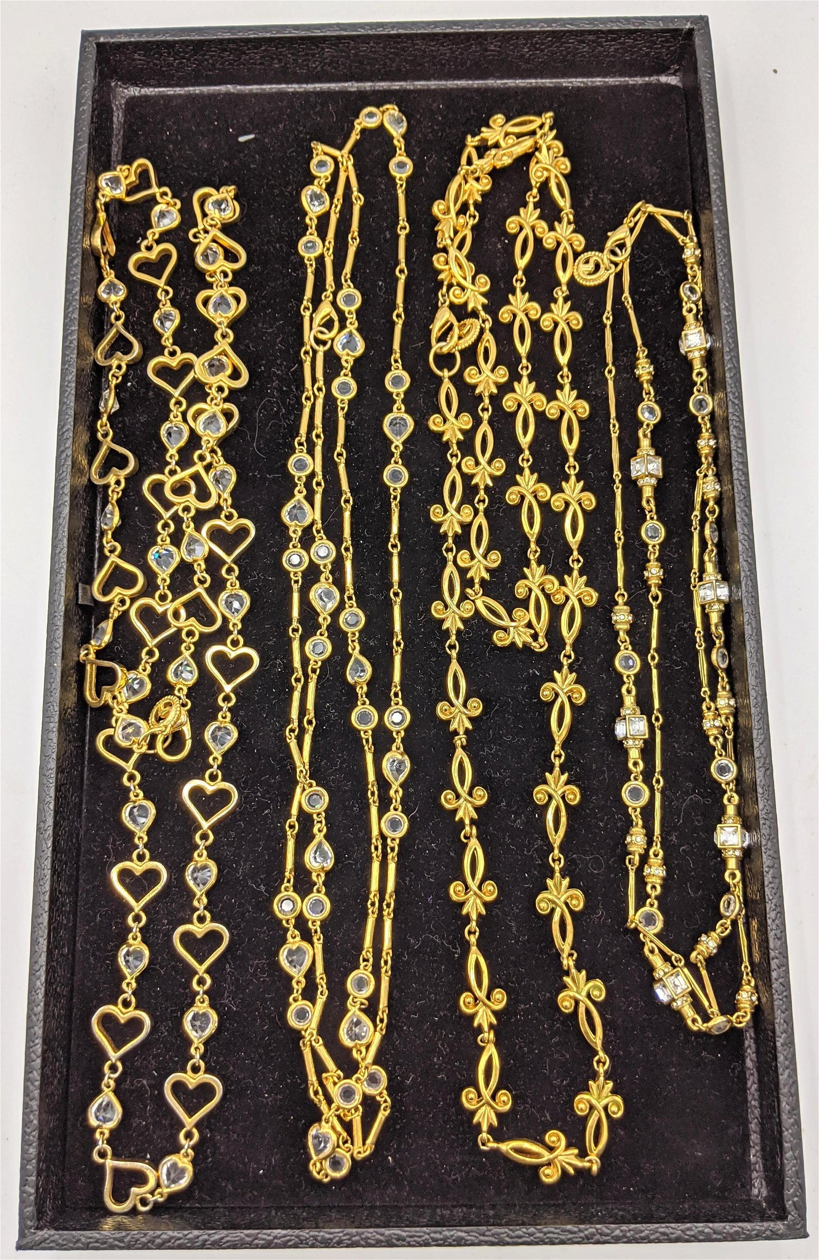 4 Gold Tone Costume Jewelry Chain Necklaces. 3 ST. JOHN