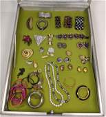 40x pc Vintage and Contemporary Costume Jewelry Case S