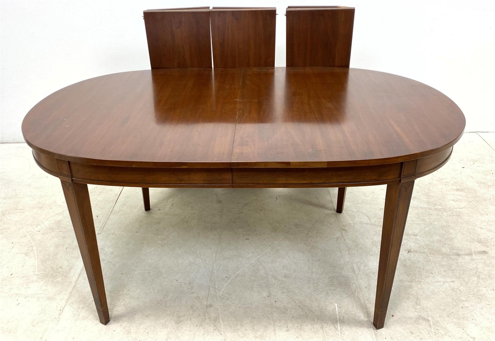 HENKEL HARRIS Cherry Oval Dining Table with Three 12 in