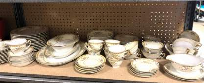 Lot of Meito LANGDON pattern china dinnerware set.