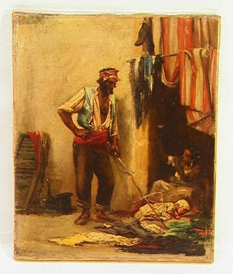1000: JIMENEZ ARANDA Gypsy Family Oil Canvas Painting.