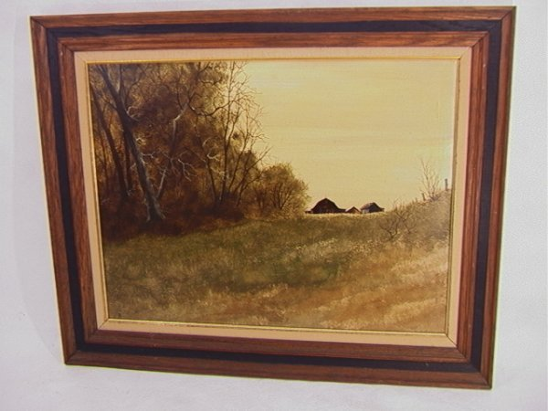 1007: D. HORNBERGER Acrylic Painting BROWN BARN. Delawa