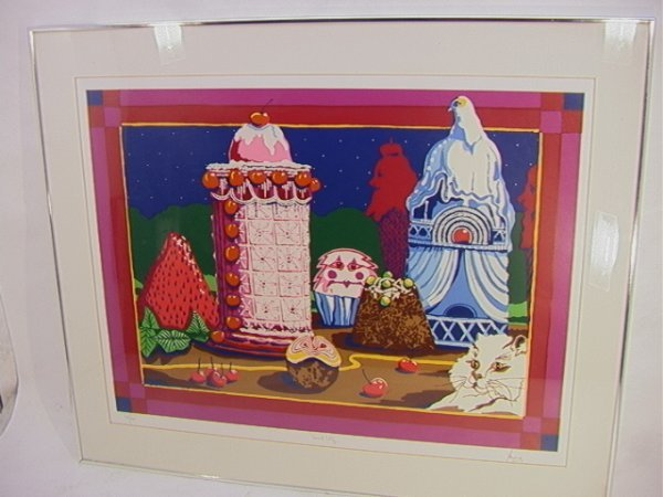 1019: PETER PAONE Sweet City 63/200 Silkscreen.  Signed