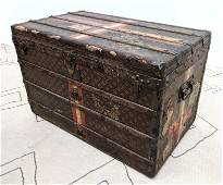 Antique French LOUIS VUITTON Steamer Trunk with Trays.