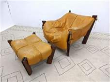 PERCIVAL LAFER Brazilian Rosewood and leather Lounge Ch