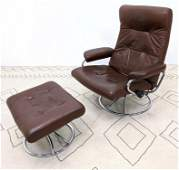JE EKORNES Lounge Chair and Ottoman  STRESSLESS Lea